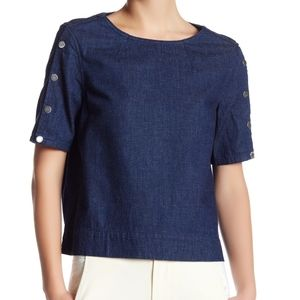 Marc by Marc Jacobs studded denim top size xs